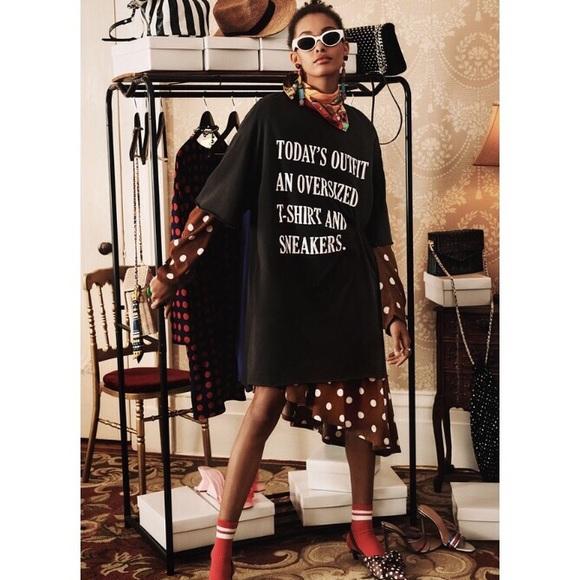 dbb7aa782956 Zara Dresses | Slogan Tshirt Dress | Poshmark